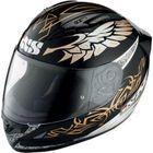 X-Helm HX 406 schwarz gold weiss, Größe L