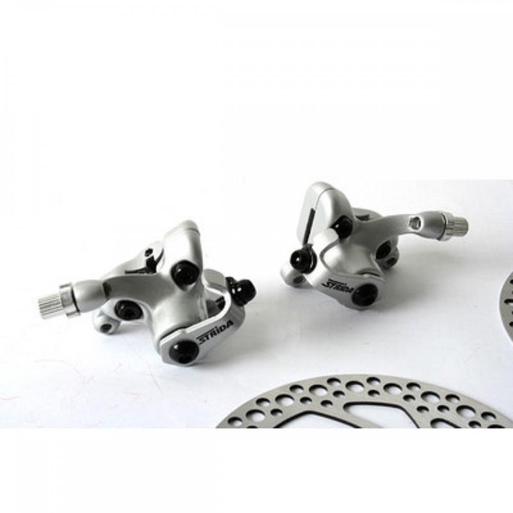 original satz bremss ttel silber mit bremsscheiben und. Black Bedroom Furniture Sets. Home Design Ideas