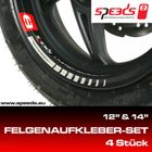 SPEEDS Felgenaufkleber Limited Racing Edition 12´´