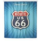 Original Wenko Duschvorhang Antischimmel Vintage Route 66