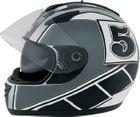 ROADSTAR Integral-Helm  Phantom , Dekor Racer silber Größe XS