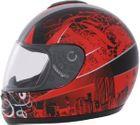 ROADSTAR Integral-Helm  Revolution , Dekor Skyline rot Größe XS