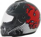 ROADSTAR Integral-Helm  Revolution , Dekor Wales schwarz rot