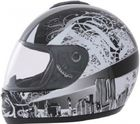 ROADSTAR Integral-Helm  Revolution , Dekor Skyline weiß