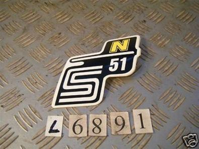 Schriftzug Aufkleber gelb Simson S51 N Moped
