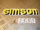 Simson Aufkleber Gelb Roller Scooter