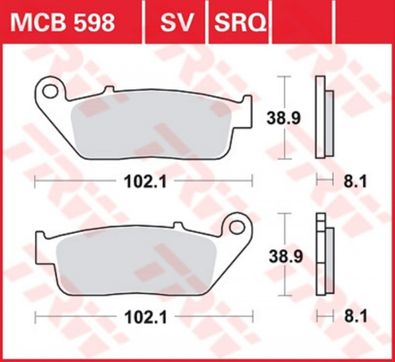 Scheibenbremsbelag Bremsbelag Bremsbeläge Lucas MCB 598