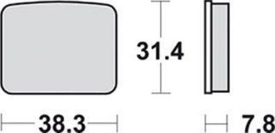 Scheibenbremsbelag Bremsbelag Bremsbeläge Lucas MCB 596