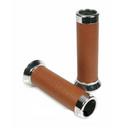 Vespa Aluminiumhandgriffe für Roller LX/ET Braunes Leder