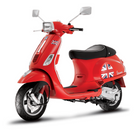Vespa Stickerset Flagge UK für Roller Vespa S