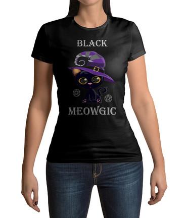 "T-Shirt ""Black Meowgic"" – Bild 1"