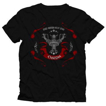 """T-Shirt """"Biker werden nicht grau - Das ist Chrom"""""""