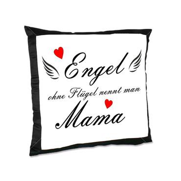 "XL Kissen ""Engel ohne Flügel nennt man Mama"" – Bild 1"