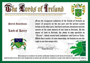 Irischer Adelstitel Lord of Kerry – Bild 2