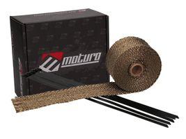 Moturo Hitzeschutzband 5m Titanium inkl. 5 Metall-Kabelbinder -