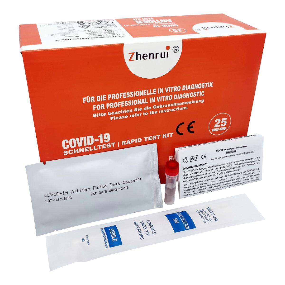 Antigen-Schnelltest COVID-19 Abstrichtest - 25 Stück - SARS-CoV-2