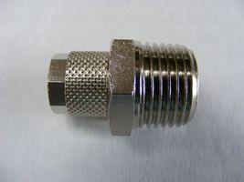 Gerader Verbinder 1/4  AG - 6mm (Schraubfitting)