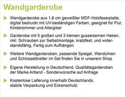 agika7: Farbenfrohe Natur - Wandgarderobe, Garderobe mit Motiv 114 x 68 cm – Bild 2