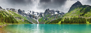 Dmitry Pichugin: Bergsee - Schlüsselbrett 14,8 x 40 cm – Bild 1