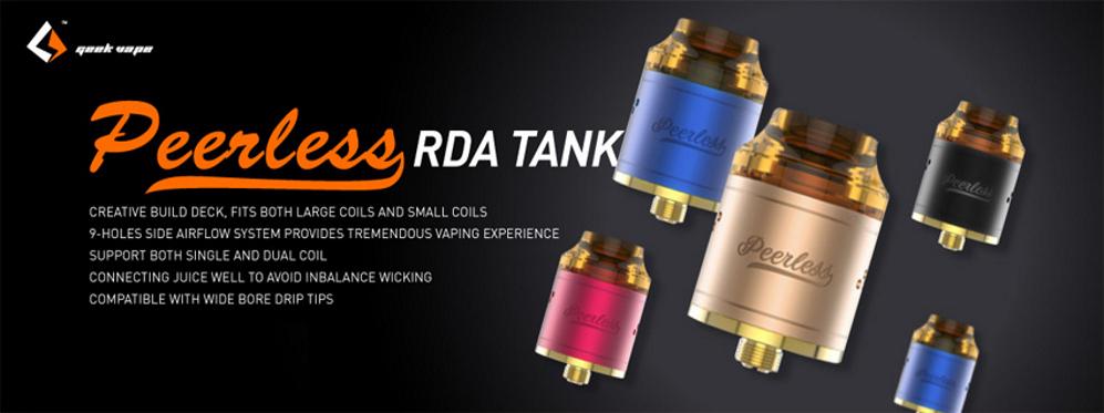 GeekVape Peerless RDTA • 24 mm Durchmesser • 4 ml Tank-Volumen • in 5 Farben