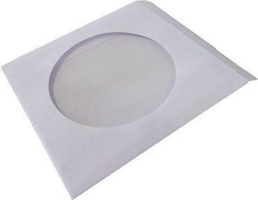 100 CD/DVD Papierhüllen, Papiertüten mit Sichfenster