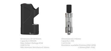 Teslacigs Stealth Mini  Akkuträger E-Zigarette Starter Set – Bild 2