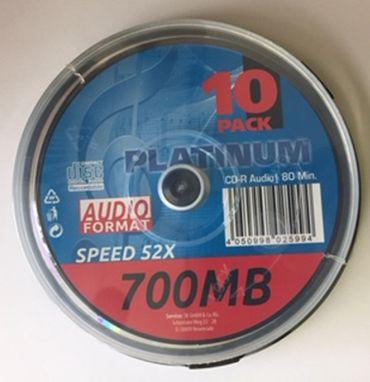 10 Stück Platinum  CD-R Audio Rohlinge 700MB 80min für Audio Recorder