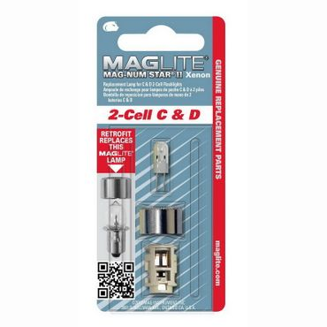 MagLite LMXA201 Magnum Star II Xenon Ersatzleuchtmittel Glühlampe für 2 C-/2 D-Cell Stablampen