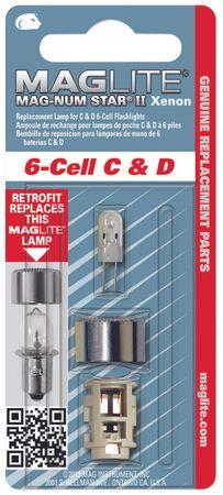 MagLite LMXA601 Magnum Star II Xenon Ersatzleuchtmittel Glühlampe für 6 C-/6 D-Cell Stablampen