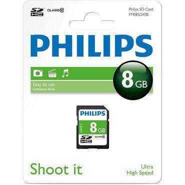 Philips FM08SD45B Class 10 8GB SDHC Speicherkarte