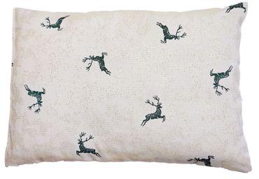Zirbenkissen Hirsch grün befüllt mit Zirbenspänen aus 100% Alpen Zirbenholz  30x20 cm