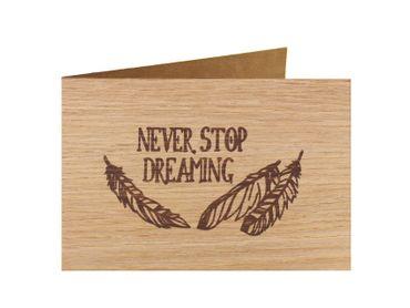 Holzgrußkarte - Spruchkarte - 100% handmade in Österreich - Postkarte  Glückwunschkarte Geschenkkarte Grußkarte Klappkarte Karte Einladung  – Bild 5