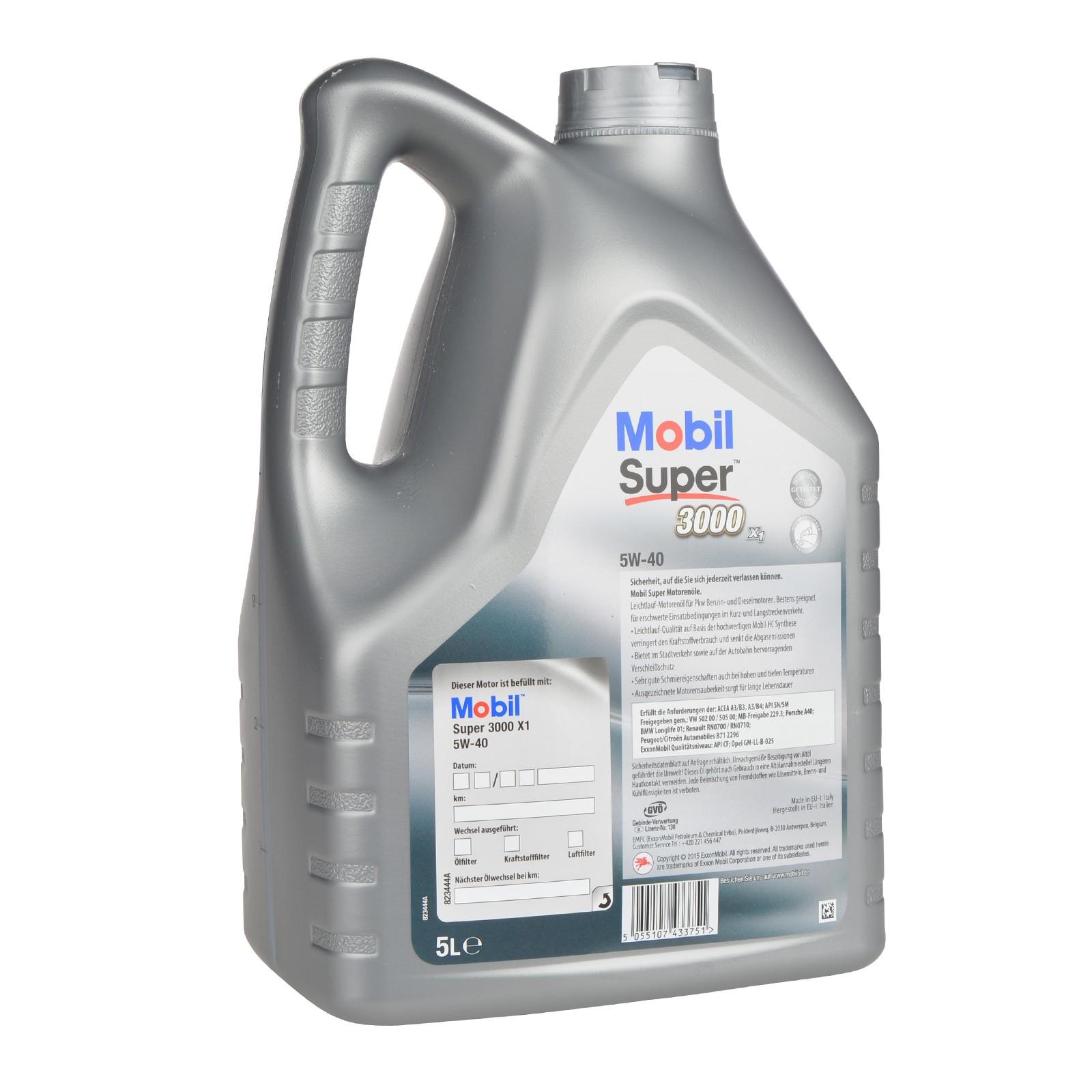 Mobil Super 3000 X1 5W-40 - 5 Liter – Bild 2