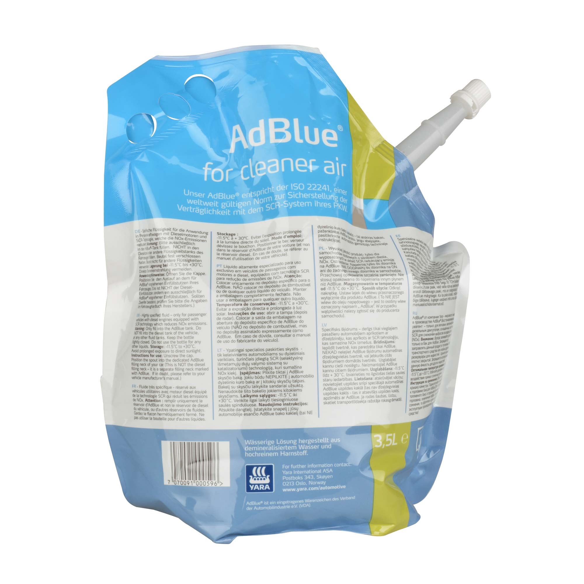 AdBlue® for Cleaner Air - Yara - 3x 3,5 Liter Standbeutel – Bild 3