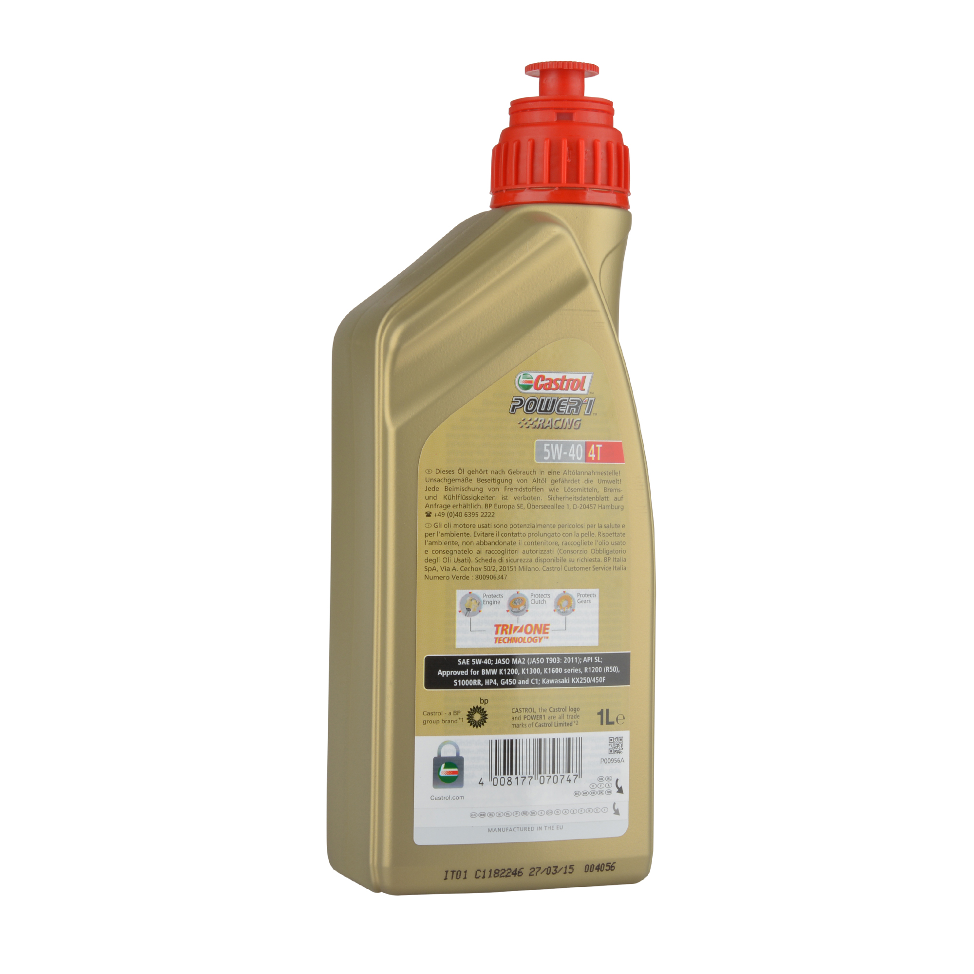 Castrol Power 1 Racing 4T 5W-40 - 1 Liter – Bild 2