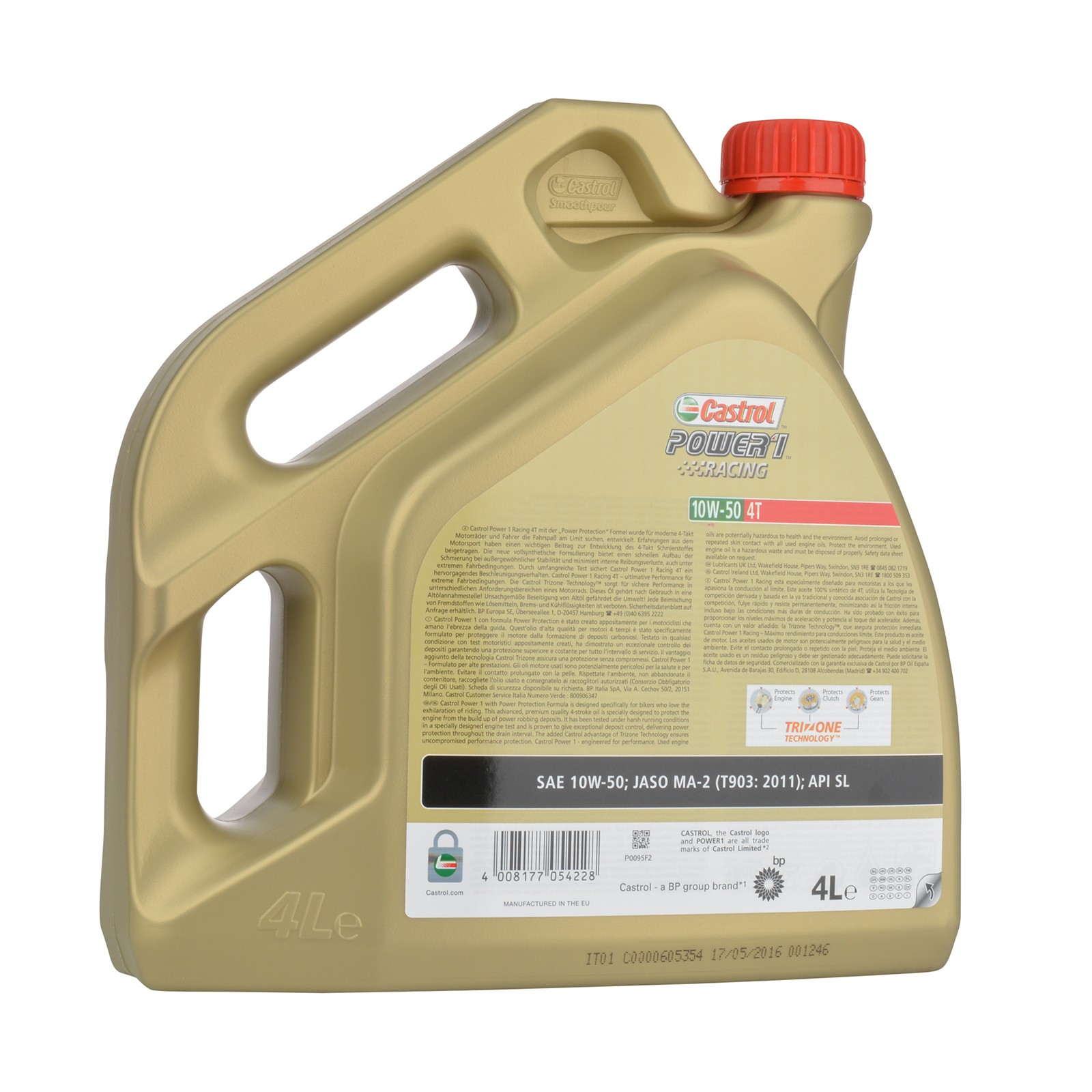 Castrol Power 1 Racing 4T 10W-50 - 4 Liter – Bild 2