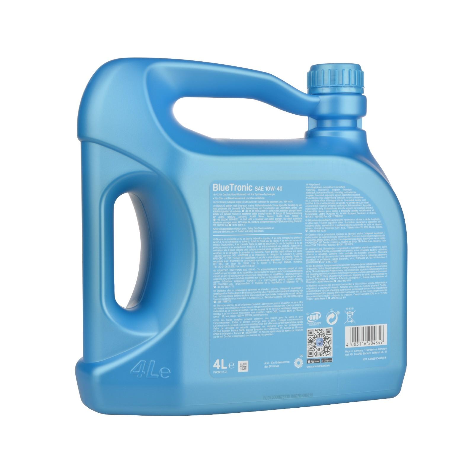 Aral BlueTronic 10W-40 - 4 Liter – Bild 2