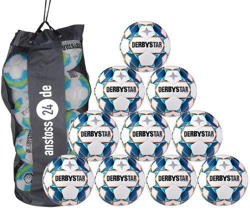 10 x DERBYSTAR Youth Ball - STRATOS LIGHT incl. ball bag