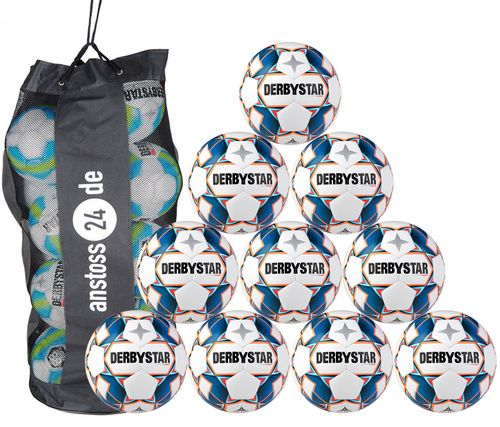 10 x DERBYSTAR Jugendball - STRATOS S-LIGHT inkl. Ballsack