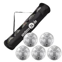 5 x JAKO Spielball Striker inkl. Ballschlauch
