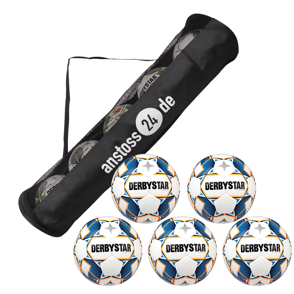 5 x DERBYSTAR play ball - PLANET APS incl. ball tube