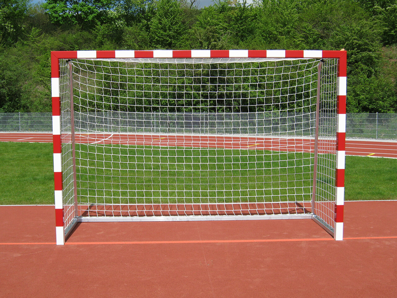 Handball goal, fully welded with high stability