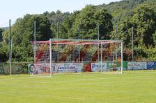 Football goal - Bundesliga - 7.32 x 2.44 m - free net suspension