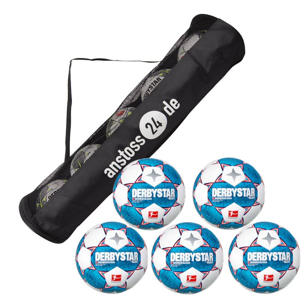 5 x DERBYSTAR play ball - BUNDESLIGA BRILLANT APS 20/21 incl. ball tube