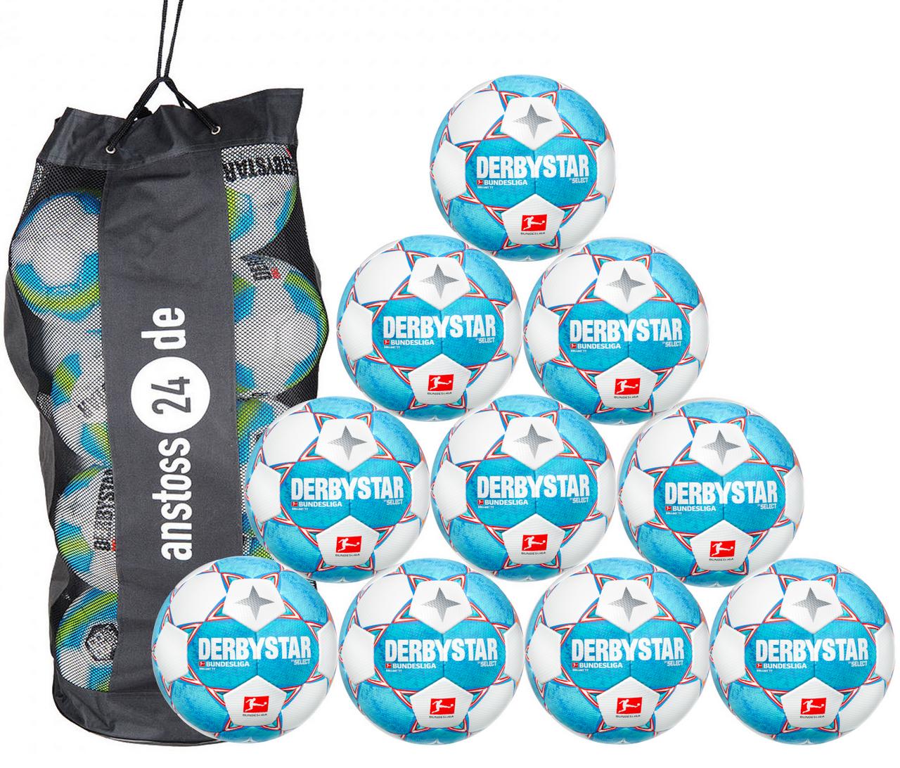 10 x DERBYSTAR Trainingsball - BUNDESLIGA BRILLANT TT 21/22 inkl. Ballsack