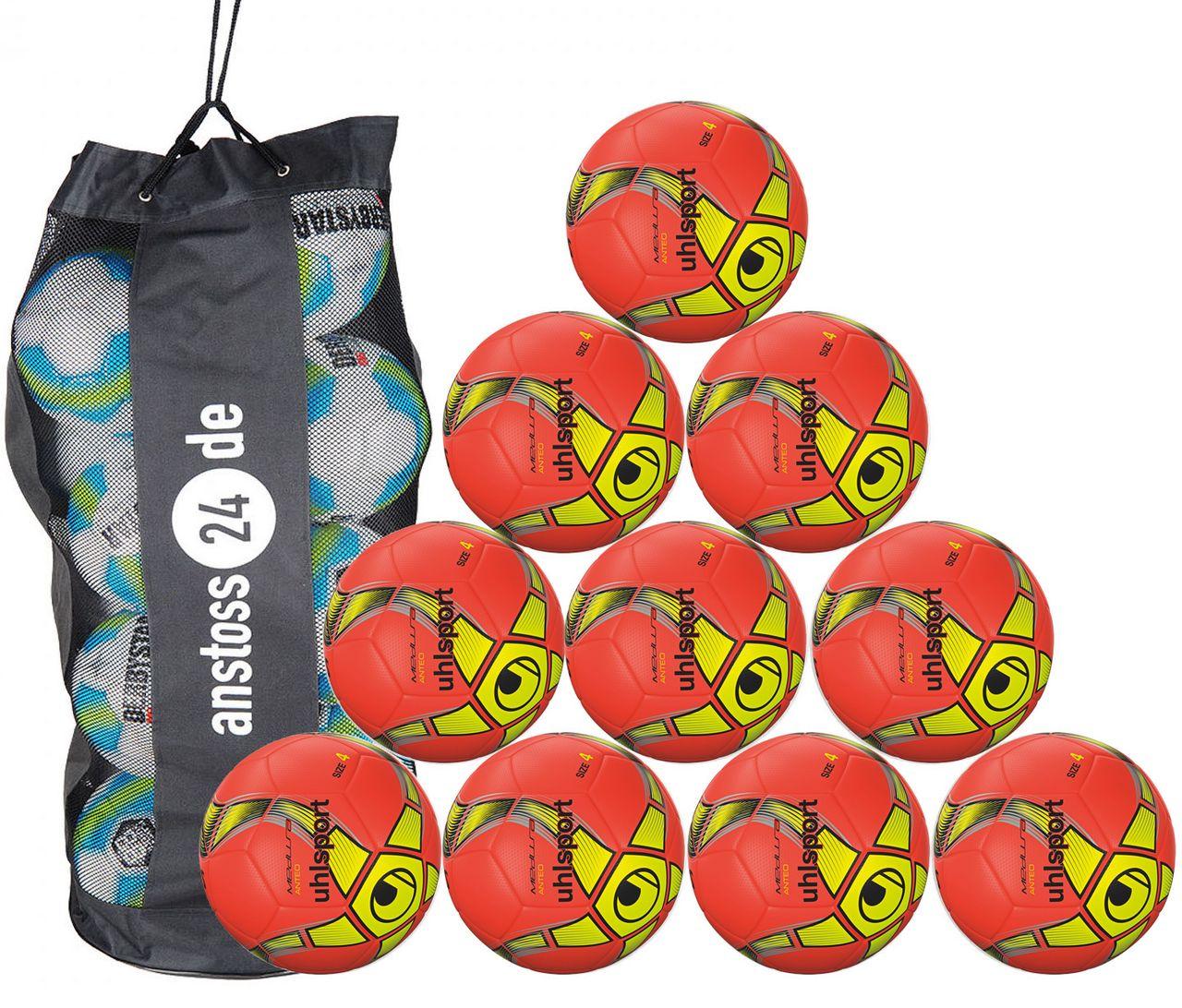 10 x Uhlsport Trainingsball Futsal - MEDUSA ANTEO inkl. Ballsack