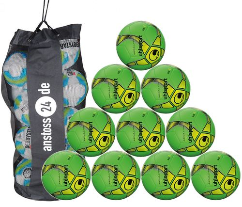 10 x Uhlsport Training Ball Futsal - MEDUSA KETO incl. ball bag