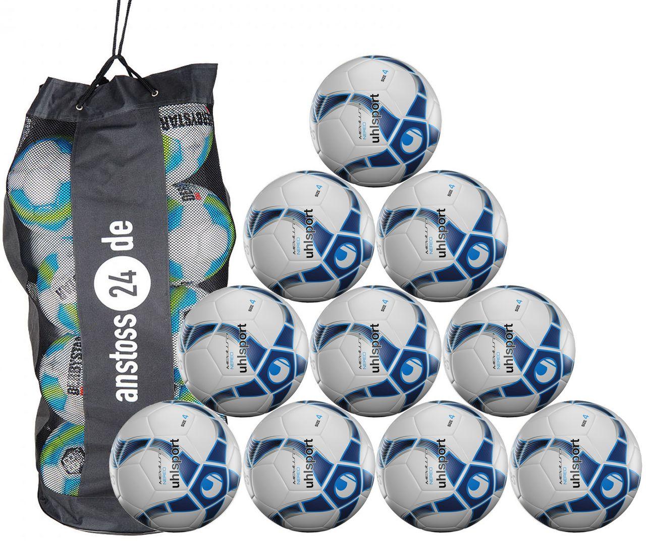 10 x Uhlsport Training Ball Futsal - MEDUSA NEREO incl. ball bag