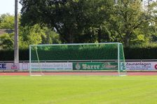 Football large field goal 7.32 x 2.44 m - transportable and fully welded, incl. goal net