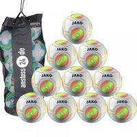 10 x JAKO Jugendball - Match inkl. Ballsack